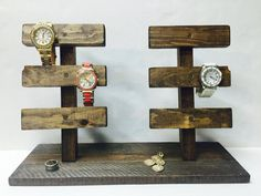 Watch Holder, Bracelet Holder, Jewelry Display is part of Accessories Holder jewelry Organization - 2 wide All products are hand crafted by me in my Korner! Go checkout what other items I've been Krafting lately at my shop! Bracelet Organizer, Bracelet Holders, Bracelet Display, Diy Organizer, Bracelet Storage, Jewelry Hanger, Jewelry Stand, Hanging Jewelry, Jewelry Box