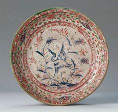 東南アジア 所蔵品 石洞美術館 五彩蘆鶴文皿 ベトナム 16世紀