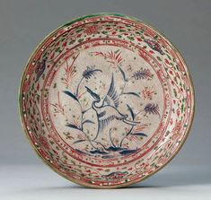東南アジア|所蔵品|石洞美術館 五彩蘆鶴文皿 ベトナム 16世紀