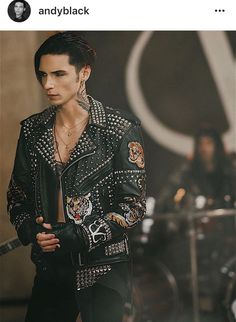 Andy Biersack in wake up music video