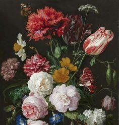 Stilleven met bloemen in een glazen vaas, Jan Davidsz. de Heem, 1650 - 1683 - Flowers-Verzameld werk van Ekaterina - Alle Rijksstudio's - Rijksstudio - Rijksmuseum