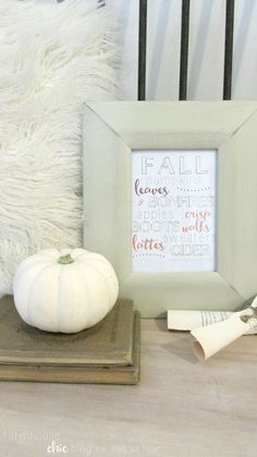 Fall favorites printable from Farmhouse Chic Blog for Just Us Four