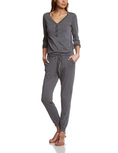 EDC by Esprit Women's Relaxed Jumpsuit, Grey Colourway, Size 14 (Manufacturer Size:Large)