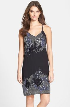 1920s sparkle dress - Women's Aidan by Aidan Mattox Embellished Slipdress