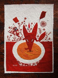 Mika Hirasa appliqué illustrations