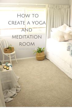 How I created my Yoga and Meditation room — Tidying with Tania - Spare room organisation and storage for making a Yoga and meditation space - Home Yoga Room, Yoga Room Decor, Yoga Studio Home, Meditation Room Decor, Relaxation Room, Relaxing Room, Relaxing Spare Room Ideas, Diy Spare Room Ideas, Spare Room Decor