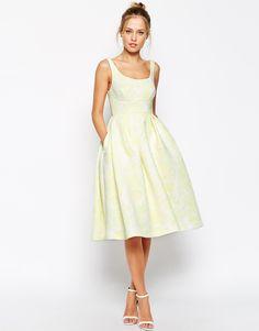 Premium Embossed Printed Scuba Midi Dress Wedding Guestswedding