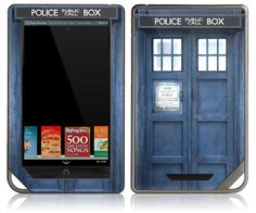 OMG!!!  MUST HAVE!!!!   NOOK Tablet Color Skin Cover - Dr Who Tardis Police Call Box. $14.95, via Etsy.