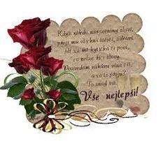 Výsledek obrázku pro přání k silvestru obrázky Happy Birthday Quotes, Poems, Place Card Holders, Album, Flower Arrangement, Happy Birthday Captions, Poetry, Verses, Poem