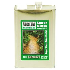 The Cement Store 1 gal. Porous Concrete and Masonry Solvent-Based Water Repellent Wear Coat Acrylic Concrete Sealer, Clear Super Gloss