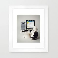Check Out My Profile Framed Print | dotandbo.com
