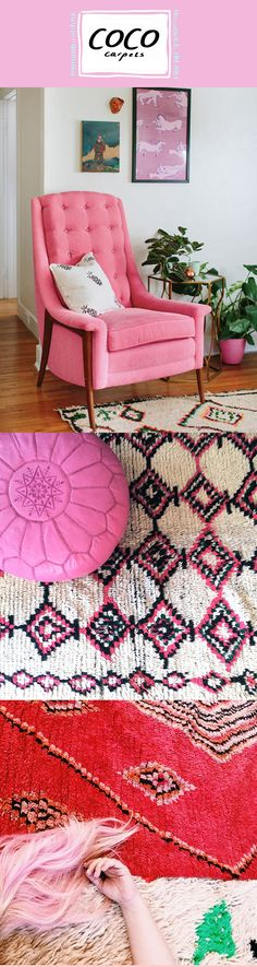 Stunning vintage Berber rugs from #COCOCARPETS.