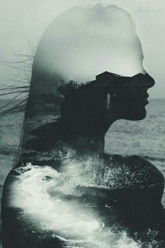 """""""She's got oceans tucked away in her hair...poems swim under her skin."""" —…"""