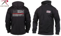 Check out Rothco's new Thin Red Line Concealed Carry Hoodie & show support for the Fire Department