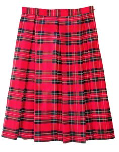 Red Plaid Hartley Skirt