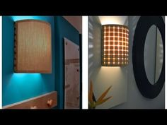 This lady has the BEST DIY for renters! How to make a wall lamp / sconce