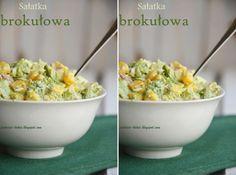 Sałatka brokułowa<3 Zielona wesoła sałatka świąteczna ♥♥♥
