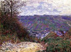 Chemin à Giverny, huile sur toile de Claude Monet (1840-1926, France)
