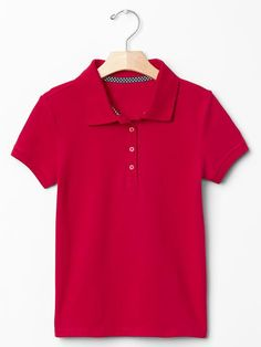 Solid pique polo Product Image