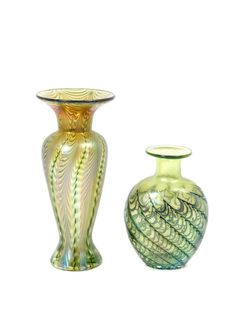 Two Art Glass Vases, Robert Held