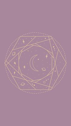 Purple and Gold Celestial iPhone Wallpaper for Women