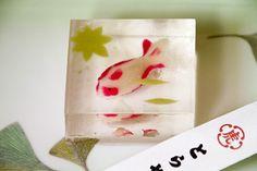 和菓子. Fish jelly wagashi.