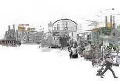 architectural style - Am schönsten Sketchbook Architecture, Collage Architecture, Landscape Architecture Drawing, Architecture Graphics, Landscape Design, Landscape Diagram, Landscape Architects, Dundee, Stonehenge