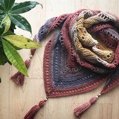 Crochet Shawls TL Yarn Crafts - The Free Yourself Shawl, from TL Yarn Crafts - Friends and fellow yarn lovers, I am finally able to admit it: I am a yarnaholic. Crochet Shawls And Wraps, Crochet Scarves, Crochet Yarn, Crochet Clothes, Free Crochet, Shawl Patterns, Knitting Patterns, Crochet Patterns, Mandala Yarn