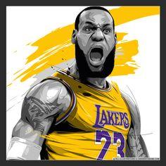 King Lebron James, King James, Sports Images, Sports Art, Digital Portrait, Vector Portrait, Portrait Art, Lebron James Wallpapers, Kobe Lebron
