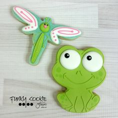 Frog & Dragonfly cookies by Jill FCS