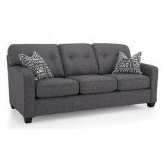 Decor-Rest 2298 Series Track Arm Sofa w/ Tapered Legs