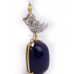 jean schlumberger jewelry | TIFFANY and Co. Jean SCHLUMBERGER Bird on a Rock Brooch at 1stdibs