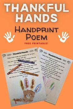 Free printable Thanksgiving poem for kids!