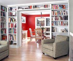 Home Design and Interior Design Gallery of Books Line Living Room Shelving