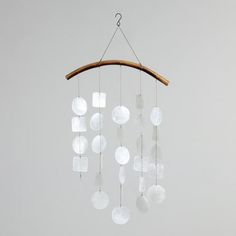 Capiz Wind Chimes. $11.24 ...........   Make this with 2 looped shells (in drawer).
