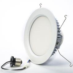 "DD-13D180-*# - LED 6"" retrofit Luminaire- LED can light conversion kit.  For retrofitting existing recessed can light housings."