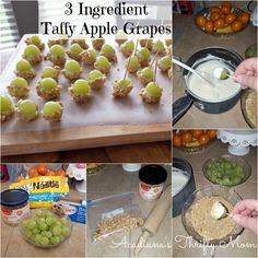taffy apple grapes Collage