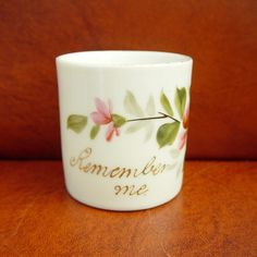 Vintage Floral Demitasse Cup Remember Me Germany