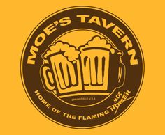Moes Tavern – Simpsons Tee (Home of the flaming Moe) T-Shirt ...