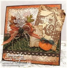 Artistic Outpost: Autumn at the Old Grist Mill by Linda Coughlin aka The Funkie Junkie