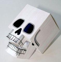 3-D Paper Skull Printable