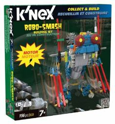 """K'NEX Robo - Smash Building Set by K'NEX. $29.95. For ages 7+. Requires 2 """"AA"""" batteries, not included. Build Robo-Smash in the Robo-Creatures series. Motorized with 156 K'NEX parts. Combine all the sets in the series to create the ultimate creature (each set sold separately). From the Manufacturer                Collect and Build Robo-Smash in the Robo-Creatures Series - motorized for exciting mechanical movement. Includes 156 K'NEX parts, primarily rods and co..."""