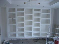 creation bibliotheque meuble en placoplatre placo platre en 2019 pinterest meuble deco et. Black Bedroom Furniture Sets. Home Design Ideas