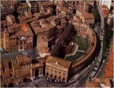 The Sferisterio in Macerata, Italy is one of the most amazing open air amphitheaters in all of Italy.