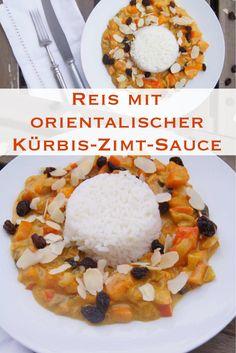 Reis mit orientalischer Kürbis-Zimt-Sauce - Rezept