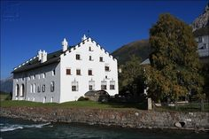 La Punt Chamues-ch village and Inn river - Upper Engadin - GR - Switzerland