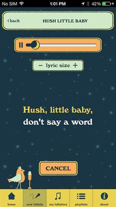 Getting a baby to sleep is like karaoke night: There's a lot of singing, someone has to be carried to bed, and details are a bit hazy in the morning. The two are destined to be a winning combination in a new app.