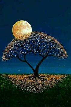 Such a unique pretty tree and moon painting Beautiful Moon, Art Painting, Painting, Moon Painting, Art, Pictures, Abstract, Beautiful Nature, Beautiful Art