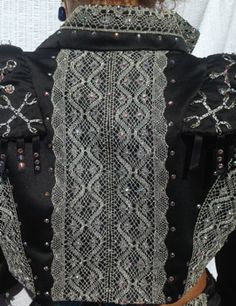 Matador back detail - silver and crystal embroidery and lace