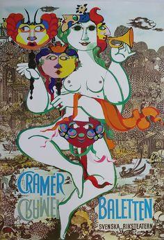1979 Wiinblad Cramér Baletten  Original Vintage by OutofCopenhagen